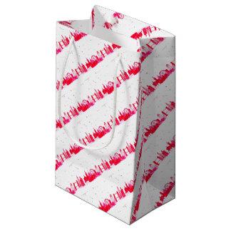 Sacola Para Presentes Pequena Londres cor-de-rosa