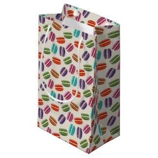 Sacola Para Presentes Pequena Macaroon colorido com meringue doce