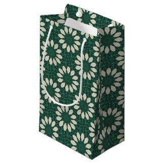 Sacola Para Presentes Pequena Mandala. da folha verde e de prata de Sacramento