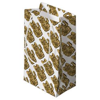 Sacola Para Presentes Pequena Maneki dourado Neko