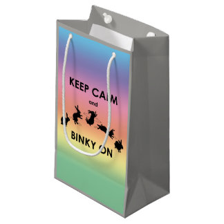 Sacola Para Presentes Pequena Mantenha a calma e o Binky no saco do presente (o