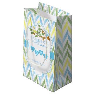 Sacola Para Presentes Pequena Manutenção programada azul Pastel do design do