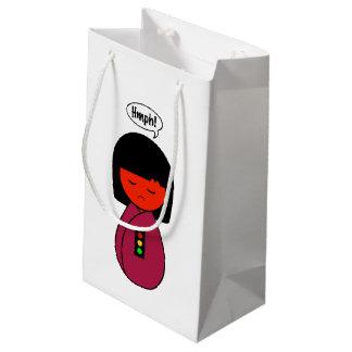 Sacola Para Presentes Pequena Menina Hmph de Kokeshi!