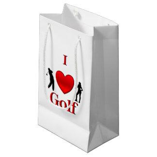Sacola Para Presentes Pequena Mim golfe do coração