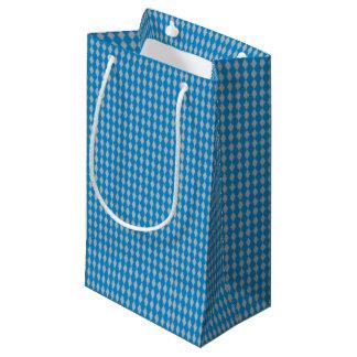 Sacola Para Presentes Pequena Mini prata azul dos diamantes | do Harlequin