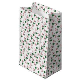 Sacola Para Presentes Pequena Muffin do pinguim do Natal