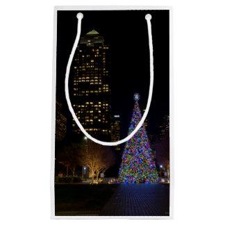 Sacola Para Presentes Pequena Natal na noite do parque de Warren