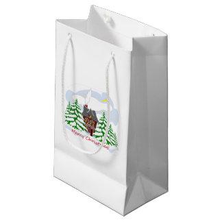 Sacola Para Presentes Pequena Natal que vem à casa da família