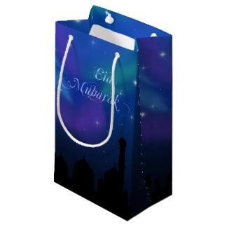 Sacola Para Presentes Pequena Noite mágica de Eid - saco pequeno do presente