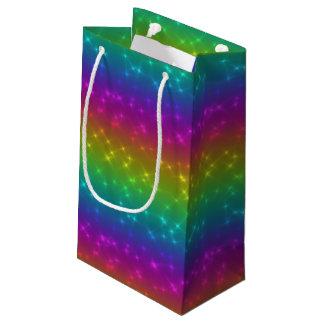 Sacola Para Presentes Pequena O arco-íris brilhante Sparkles saco do presente