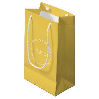 Sacola Para Presentes Pequena O desenhista 2017 da primavera de colore o amarelo