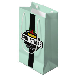 Sacola Para Presentes Pequena O Natal deseja o saco pequeno do presente