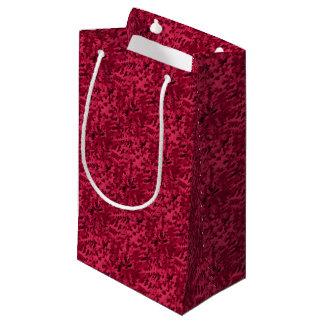 Sacola Para Presentes Pequena O pop art abstrato da folha cora vermelho