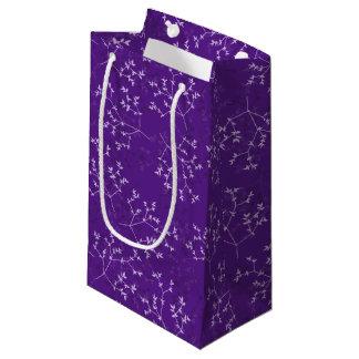 Sacola Para Presentes Pequena O roxo delicado ramifica saco do presente