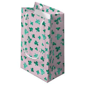 Sacola Para Presentes Pequena O trevo sae do saco lustroso pequeno do presente