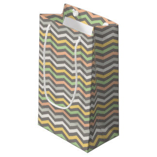 Sacola Para Presentes Pequena o ziguezague Multi-colorido alinha, Chevron - saco
