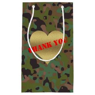 Sacola Para Presentes Pequena Obrigado do partido da camuflagem do GI JOE você