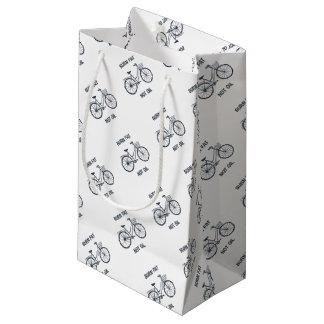 Sacola Para Presentes Pequena Óleo da gordura da queimadura da bicicleta não