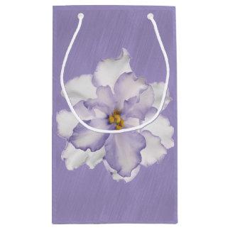Sacola Para Presentes Pequena Orquídea bonita da lavanda