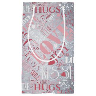 Sacola Para Presentes Pequena Os abraços e os beijos exprimem ID286