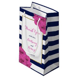 Sacola Para Presentes Pequena Os rosas Luxe modernos chiques do rosa da coleção