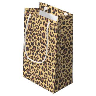 Sacola Para Presentes Pequena Padrões da pele animal do impressão do leopardo