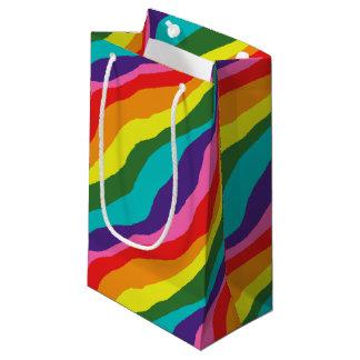 Sacola Para Presentes Pequena Padrões do arco-íris