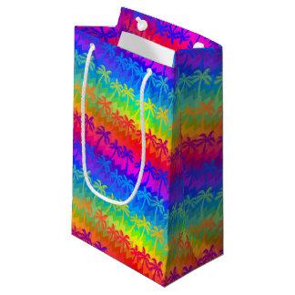 Sacola Para Presentes Pequena Palmeiras do arco-íris