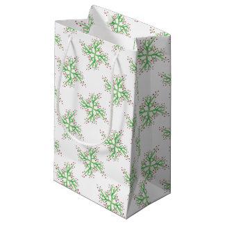 Sacola Para Presentes Pequena papel de embrulho do design do azevinho