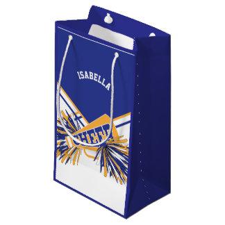 Sacola Para Presentes Pequena Para os cheerleaderes - branco, azul e ouro -