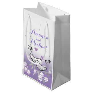 Sacola Para Presentes Pequena Pássaros Pastel do amor que wedding o saco