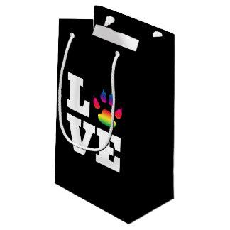 Sacola Para Presentes Pequena Pata do arco-íris