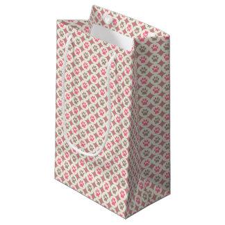 Sacola Para Presentes Pequena Pata-para-Dando o saco do presente (cereja/Tan)