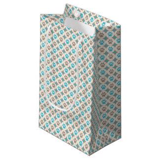 Sacola Para Presentes Pequena Pata-para-Dando o saco do presente (céu/tan)