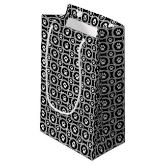 Sacola Para Presentes Pequena Pata-para-Dando o saco do presente (preto)