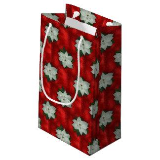 Sacola Para Presentes Pequena Poinsétia do Natal