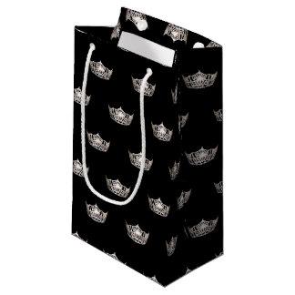 Sacola Para Presentes Pequena Presente de prata da coroa da senhorita América
