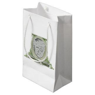 Sacola Para Presentes Pequena Presidente Trunfo Dólar
