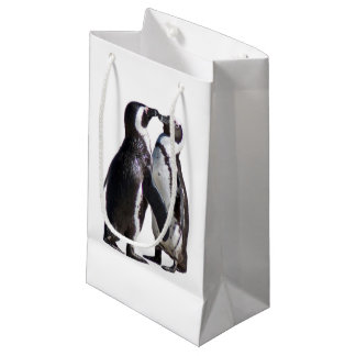 Sacola Para Presentes Pequena Romance do pinguim
