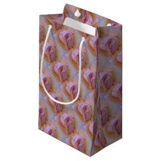 Sacola Para Presentes Pequena Rosa delicado