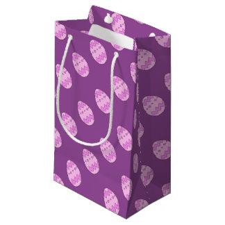 Sacola Para Presentes Pequena Rosa do ovo da páscoa
