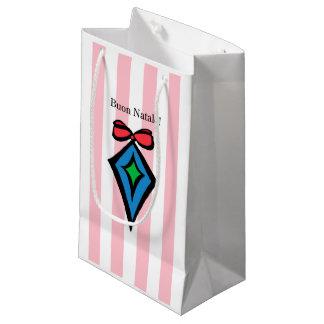 Sacola Para Presentes Pequena Rosa pequeno do saco de compras do diamante de