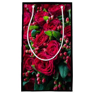 Sacola Para Presentes Pequena Rosas vermelhas