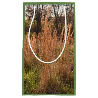 Sacola Para Presentes Pequena Saco alto do presente da grama