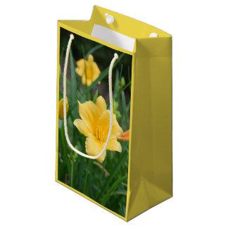 Sacola Para Presentes Pequena Saco amarelo do presente da flor