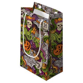 Sacola Para Presentes Pequena Saco assustador do presente do Dia das Bruxas -