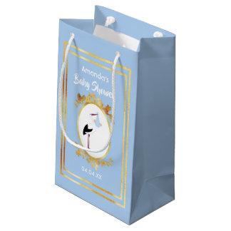 Sacola Para Presentes Pequena Saco azul Pastel do presente do menino do chá de