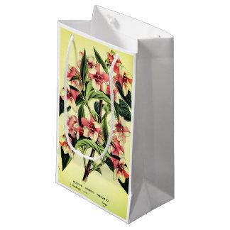 Sacola Para Presentes Pequena Saco branco vermelho do presente da flor do
