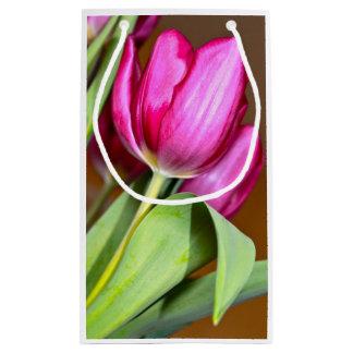 Sacola Para Presentes Pequena Saco cor-de-rosa do presente da tulipa