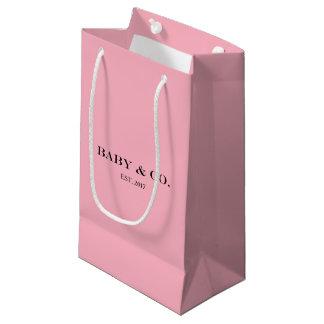 Sacola Para Presentes Pequena Saco cor-de-rosa do presente do partido da menina